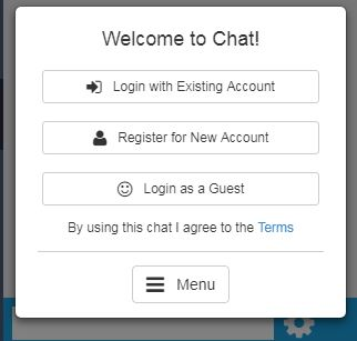 Welcome to Chat screen shot